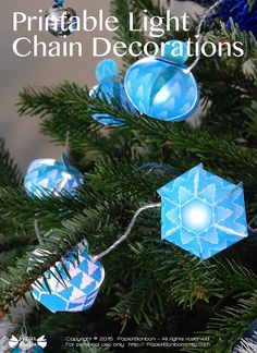 Christmas ornaments Printable  decoration for by PapierBonbon