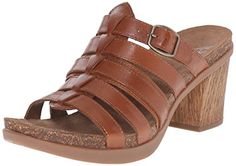 Dansko Womens Dina Slide Sandal Camel Full Grain 39 EU859 M US -- Check this awesome product by going to the link at the image.(This is an Amazon affiliate link and I receive a commission for the sales)