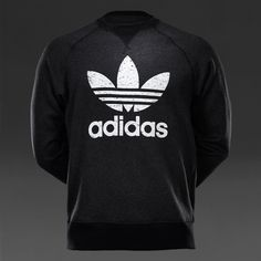 Mens Clothing - adidas Originals Sport Ess Crew - Black Melange - S18357
