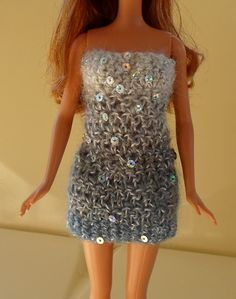 Happier Than A Pig In Mud: Blinged-Up Crochet Barbie Cocktail Dress Pattern - free pattern