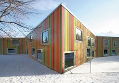 Kindergarden in Monthey, Switzerland by Bonnard Woeffray Architectes.