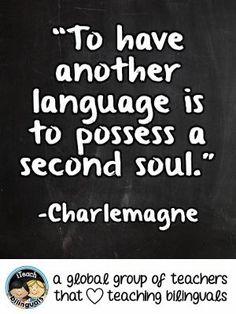 Teacher Quote: Second Language Learning  #KidsLanguages  #Bilingual