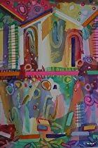 """""""Jouvert  II"""" (Carnival) by Celesa Lucien Watercolor ~ 30"""" x 22"""""""