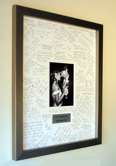 """Personalised Wedding Guest Book Frame - SILVER - Contemporary alternative to the traditional guest book (Ivory-Ivory-Portrait) - """" The Effective Pictures We Offer You About trends men A quality picture can tell you many thing - Wedding Frames, Wedding Book, Wedding Signs, Diy Wedding, Dream Wedding, Wedding Day, Wedding Favors, Wedding Dress, Wedding Guest Book Alternatives"""