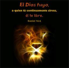 """Ellos querrán conocerlo.  Daniel 6:16 """"Entonces el rey mandó, y trajeron a Daniel, y le echaron en el foso de los leones. Y el rey dijo a Daniel: El Dios tuyo, a quien tú continuamente sirves…"""