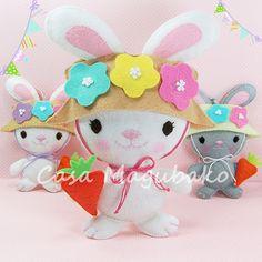 Felt Bunny Digital Pattern - Bunny Ornament or Soft Toy - Hand-Stitching…