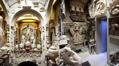 Clutter or architect's incredible use of space? The Sir John Soane's Museum, London.