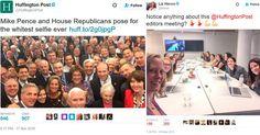 """Huffington Post cita os brancos em """"selfie"""" republicana; daí divulgam foto de sua redação"""