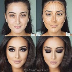 While thinking about how to contour face, consider the features you would like to accentuate. And it is also important to know your face shape. #makeup #makeuplover #makeupjunkie #makeupideas