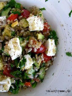 Greek Recipes, Diet Recipes, Healthy Recipes, Recipies, Healthy Foods, Salad Sauce, Salad Bar, Appetisers, Healthy Nutrition