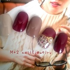 再66*ボルドー*極細ツィード*ネイルチップ♥ | ハンドメイドマーケット minne Toe Nail Art, Acrylic Nails, Gel Color, Pretty Little, Manicure, Nail Designs, Hair Beauty, Nail Polish, My Favorite Things