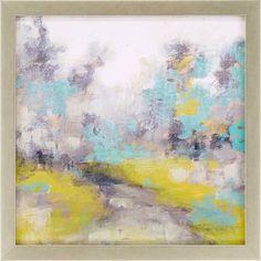 Pastel Walk II Framed Painting Print