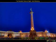 Александровская колонна Ночью (The Alexander Column at Night) | Flickr - Photo Sharing!