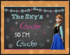 Printable Instant Download Frozen Sky's Awake by ApothecaryTables