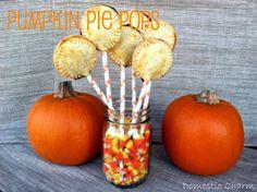 Domestic Charm: Pumpkin Pie Pops