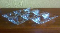 Set of 8 1960's DIAMOND-SHAPED Glass by AMEASUREOFTREASURE on Etsy