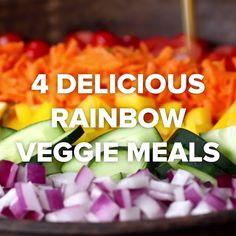 4 Delicious Rainbow Veggie Meals