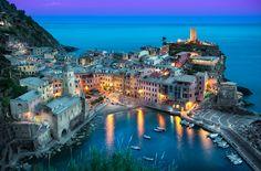 """The Beautiful Vernazza"". Cinque Terre, Italy."