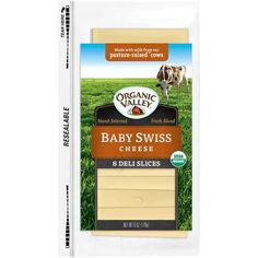 Organic Valley Organic Baby Swiss Sliced Cheese 6 Ounce  12 per case -- Click image to review more details.(This is an Amazon affiliate link and I receive a commission for the sales)