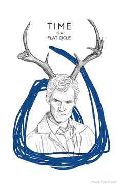 True Detective illustration. Rust Chole. Antlers