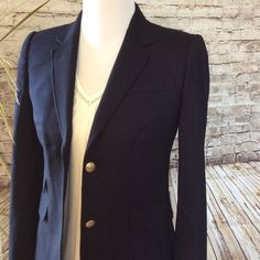 """J. Crew """"schoolboy"""" blazer This blazer is like new !!!!! It's 98% wool 2% spandex, it has fall gold preppy buttons. This is a great staple piece. J. Crew Jackets & Coats Blazers"""
