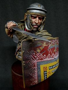 by · Putty&Paint Sparta Warrior, Greek Warrior, Roman Armor, Roman Warriors, Roman Legion, Roman Soldiers, Military Figures, Knight Armor, Ancient Rome