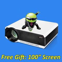 5500 lumens smart Android 4.4 lcd tv led video projector full hd accessories 1920x1080 3d home theater projetor proyector beamer     Tag a friend who would love this!     FREE Shipping Worldwide     {Get it here ---> http://swixelectronics.com/product/5500-lumens-smart-android-4-4-lcd-tv-led-video-projector-full-hd-accessories-1920x1080-3d-home-theater-projetor-proyector-beamer/ | Buy one here---> WWW.swixelectronics.com