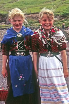 Europe, Faroe Islands, Traditional Danish folkdress from the island of Faroe