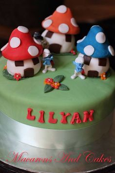 Smurf cake Les schtroumpf