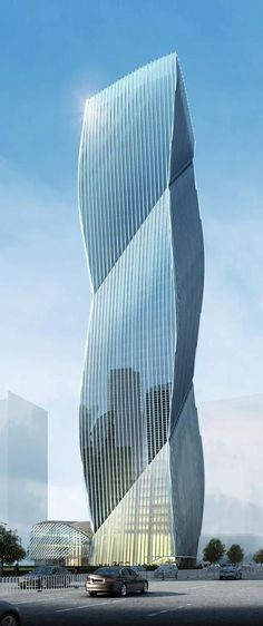 Excellence Houhai Financial Center, Shenzhen, China by Miralles Tagliabue EMBT Architects :: 46 floors, height 201m