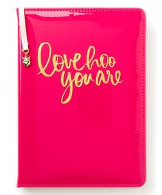 Another great find on #zulily! Pink 'Love Hoo You Are' Journal #zulilyfinds