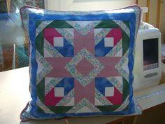 A foundation patchwork cushion www.folksy.com/shops/BumbleBearsandDesigns