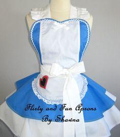 Alice in Wonderland Inspired Apron by sjcnace4 on Etsy, $65.00