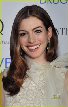Anne Hathaway ~ I love how she can do anything from The Princess Diaries to Love and Other Drugs. I just think she is adorable!