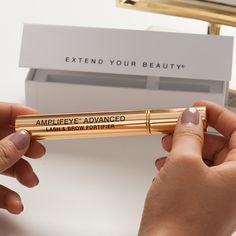 Lashes and brows appear fuller and look more youthful with Amplifeye Advanced Lash Brow Fortifier. Discover the full story now. Makeup Tips For Oily Skin, Makeup Tips For Brown Eyes, Makeup Tips Foundation, Eye Makeup Tips, Long Lashes, Eyelashes, Best Lashes, Makeup For Teens, Makeup Tips For Beginners