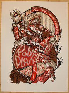 2011 Robert Plant - Silkscreen Concert Poster by Guy Burwell
