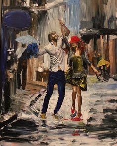 La gioia in Art peinture *** Romantic Art, Dance Paintings, Classic Art, Art Painting, Rain Art, Painting, Art, Romance Art, Aesthetic Art
