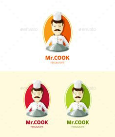 Mr. Cook Logo.bistro, cafe, canteen, chef, cook, cooking, delicious, food, restaurant