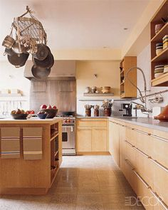 Kitchen Storage Solutions- Photos of Pot Racks - ELLE DECOR