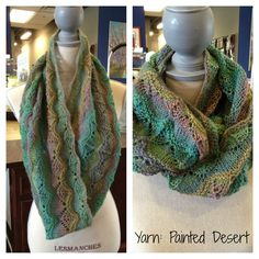Beautiful lace #scarf knit out of Painted Desert by KFI. http://www.personalthreads.com/newsite/detail.cfm?ID=33243506