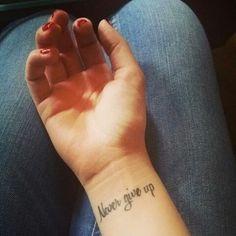 Min tatuering på handleden, ellinorengman
