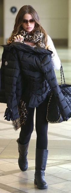 Shoes – Frye    Sunglasses – Gucci    Purse – Chanel    Scarf – Yves Saint Laurent