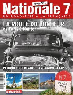 """Chantée par Charles Trenet, la Nationale 7 a bercé nos rêves ensoleillés. Durant des décennies, ce long ruban d'asphalte mythique a rythmé la vie de millions d'automobilistes. Le magazine """"Nationale 7"""" surfe sur la tendance du """"slow tourisme"""" en nous proposant de flâner, tout au long de l'été, sur cette route du bonheur. Aquitaine, Charles Trenet, Station Essence, Road Trip, Travel Posters, Paris, Magazine, Memories, Surfing"""