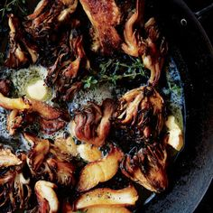 Seared Mushrooms with Garlic and Thyme Recipe