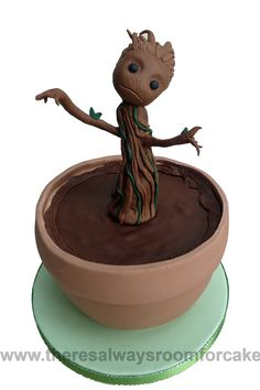 how to make baby groot cake