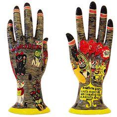 Manekineko ceramic hand