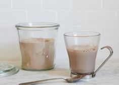 Good hot chocolate mix and best of all sugar free and fat free. To make a cup of hot chocolate use 1/4 cup of mix and 1 cup hot water.