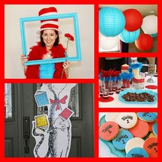creative cat in the hat baby shower