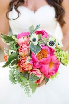 Peonies and anemones. Photography: Jen Lauren Grant From Birds Of A Feather Photography - birdsofafeatherphoto.com