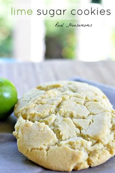 Lime Sugar Cookies - Super tasty, very dry.  Next time, make them smaller (1-1 1/2 tbsp), add a TOUCH more lime.